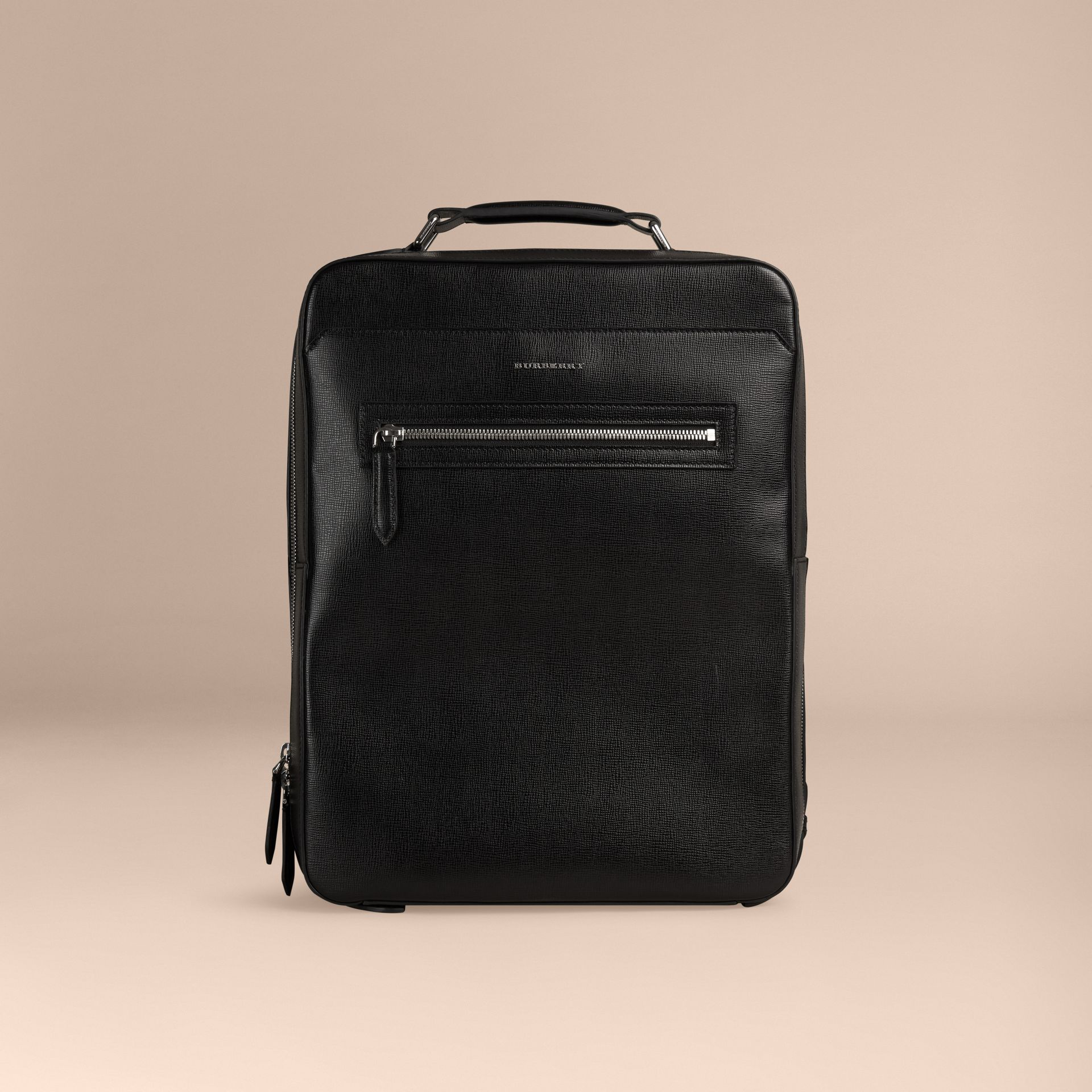 Black London Leather Backpack Black - gallery image 7