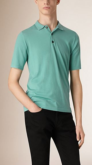 Knitted Merino Wool Polo Shirt