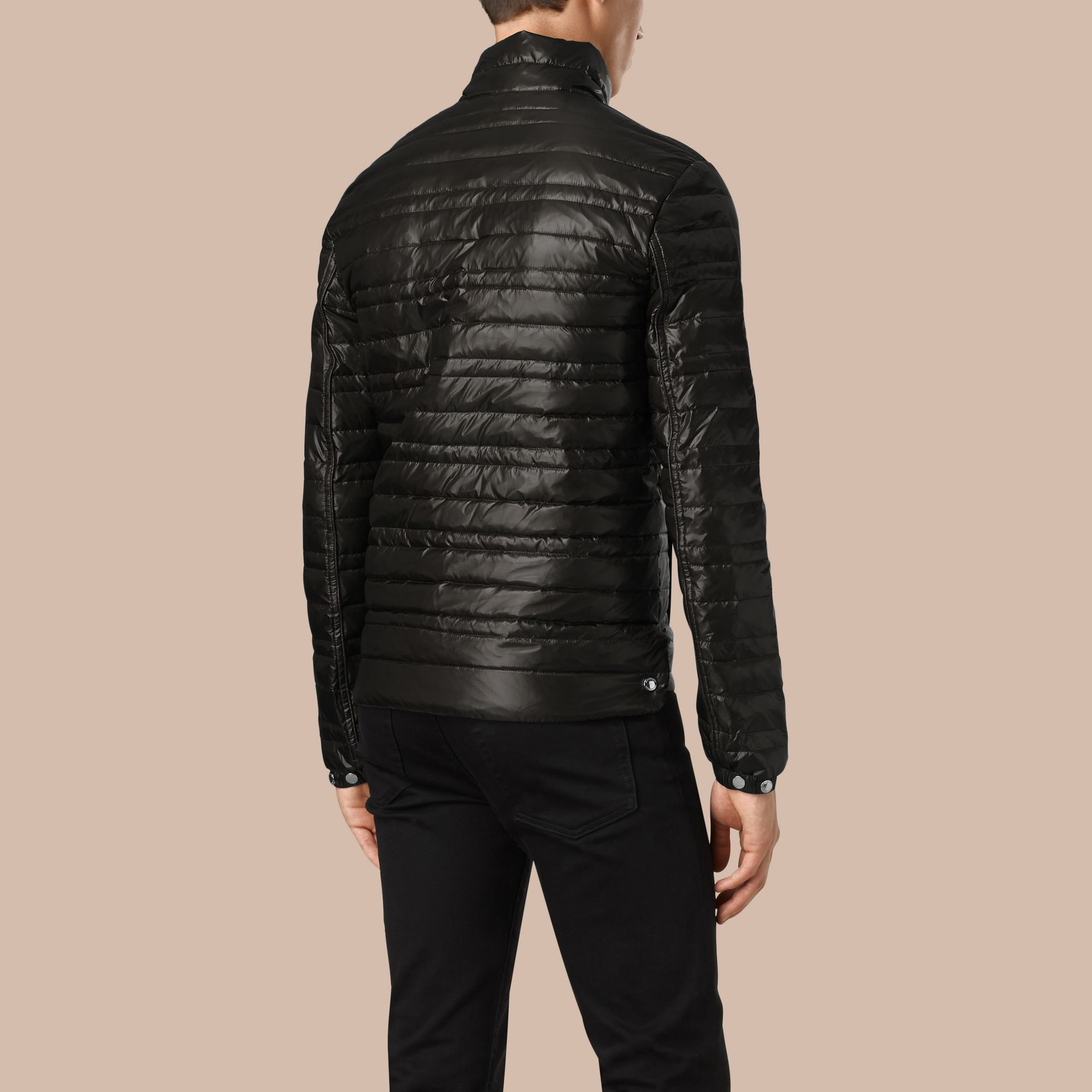Lightweight Down-filled Jacket in Black - gallery image 2