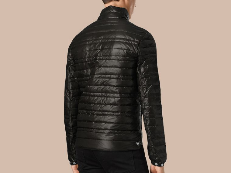Lightweight Down-filled Jacket in Black - cell image 1