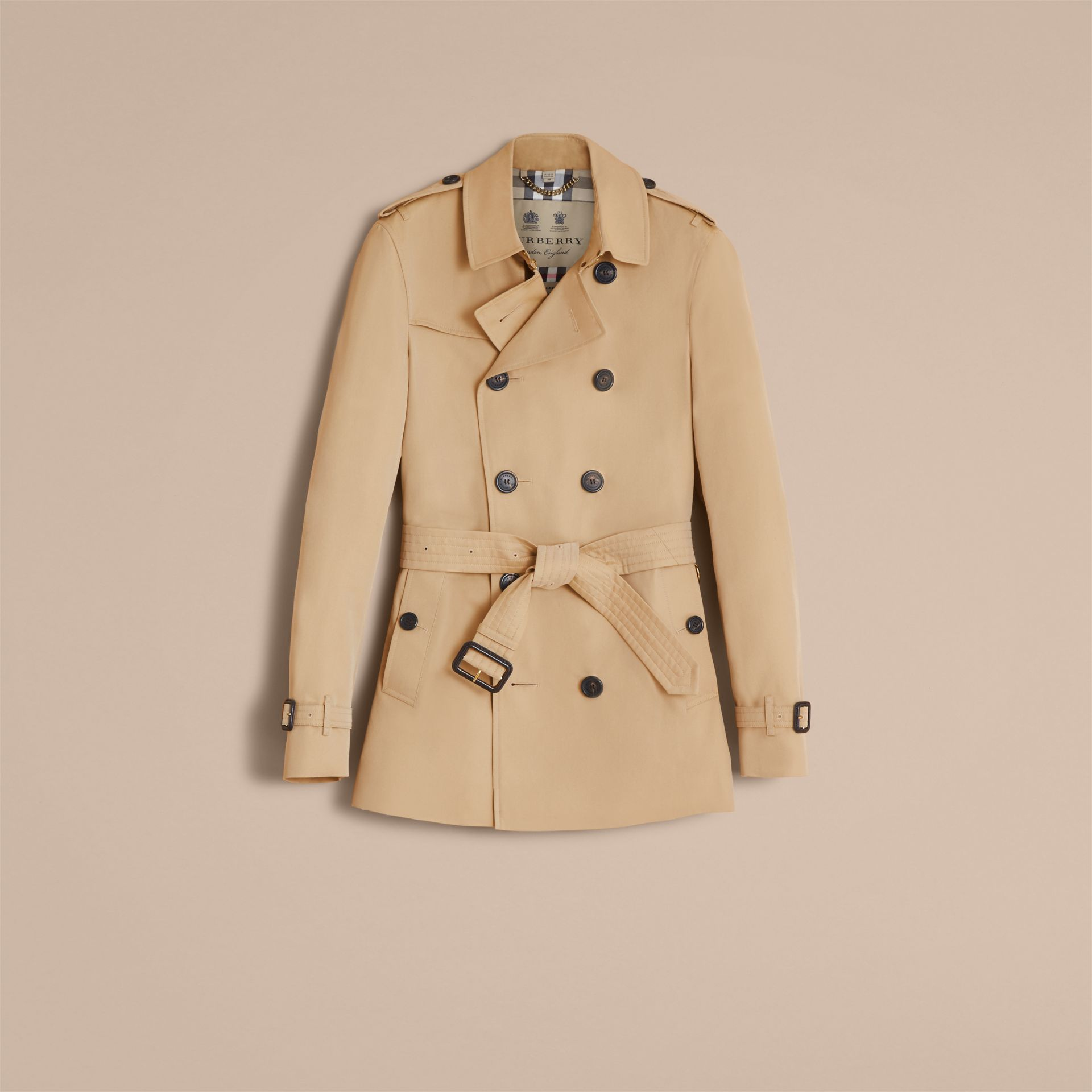 Honey The Chelsea – Short Heritage Trench Coat Honey - gallery image 5