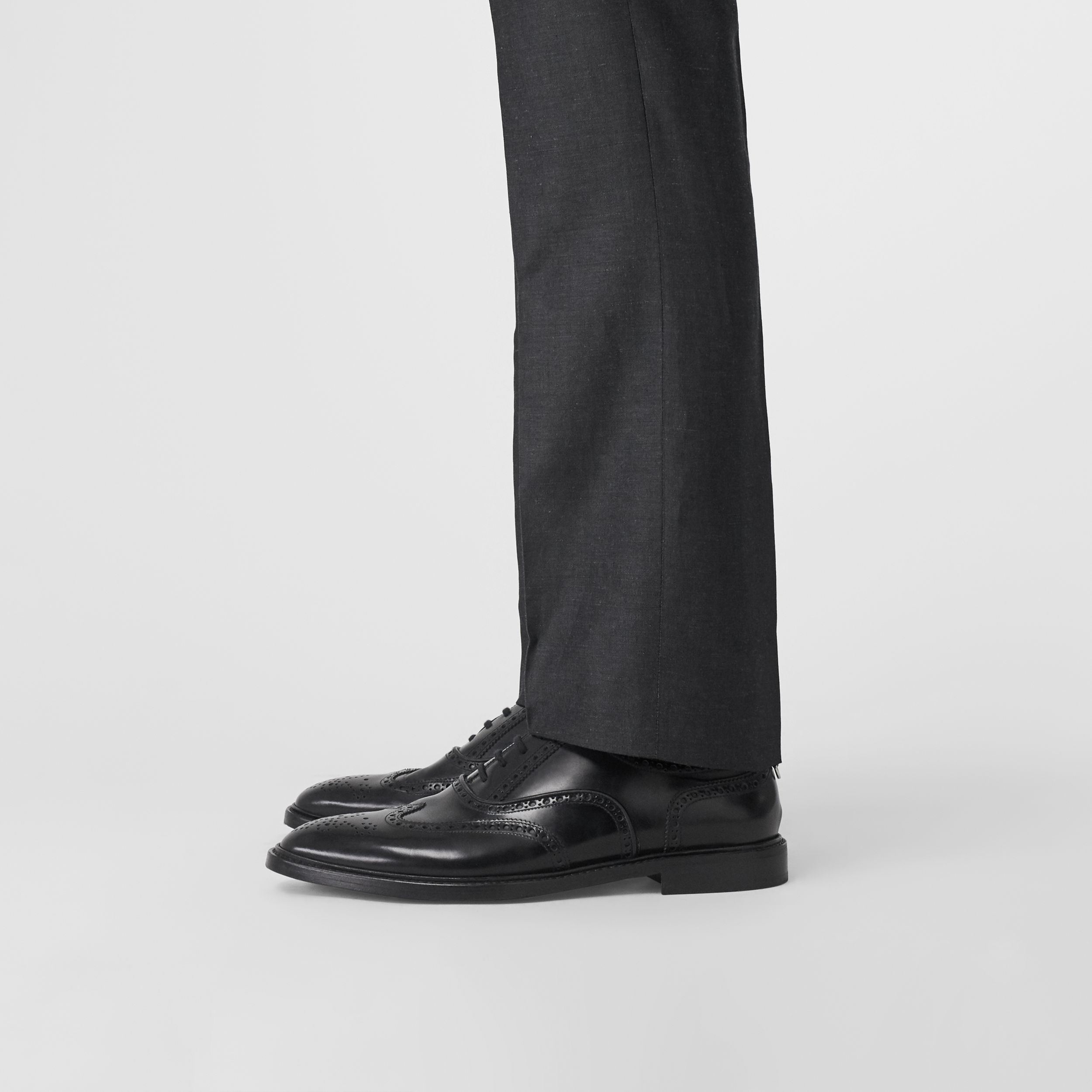 Leather Oxford Brogues in Black - Men | Burberry United States - 3