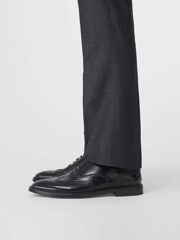 Leather Oxford Brogues in Black | Burberry United States - cell image 2