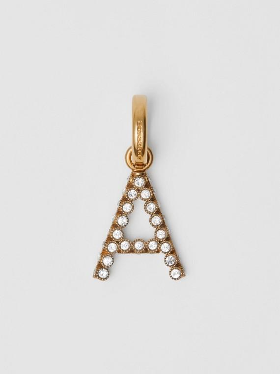 Crystal 'A' Alphabet Charm