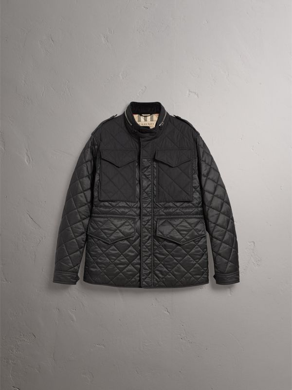 Packaway Hood Military Quilted Jacket in Black | Burberry - cell image 3