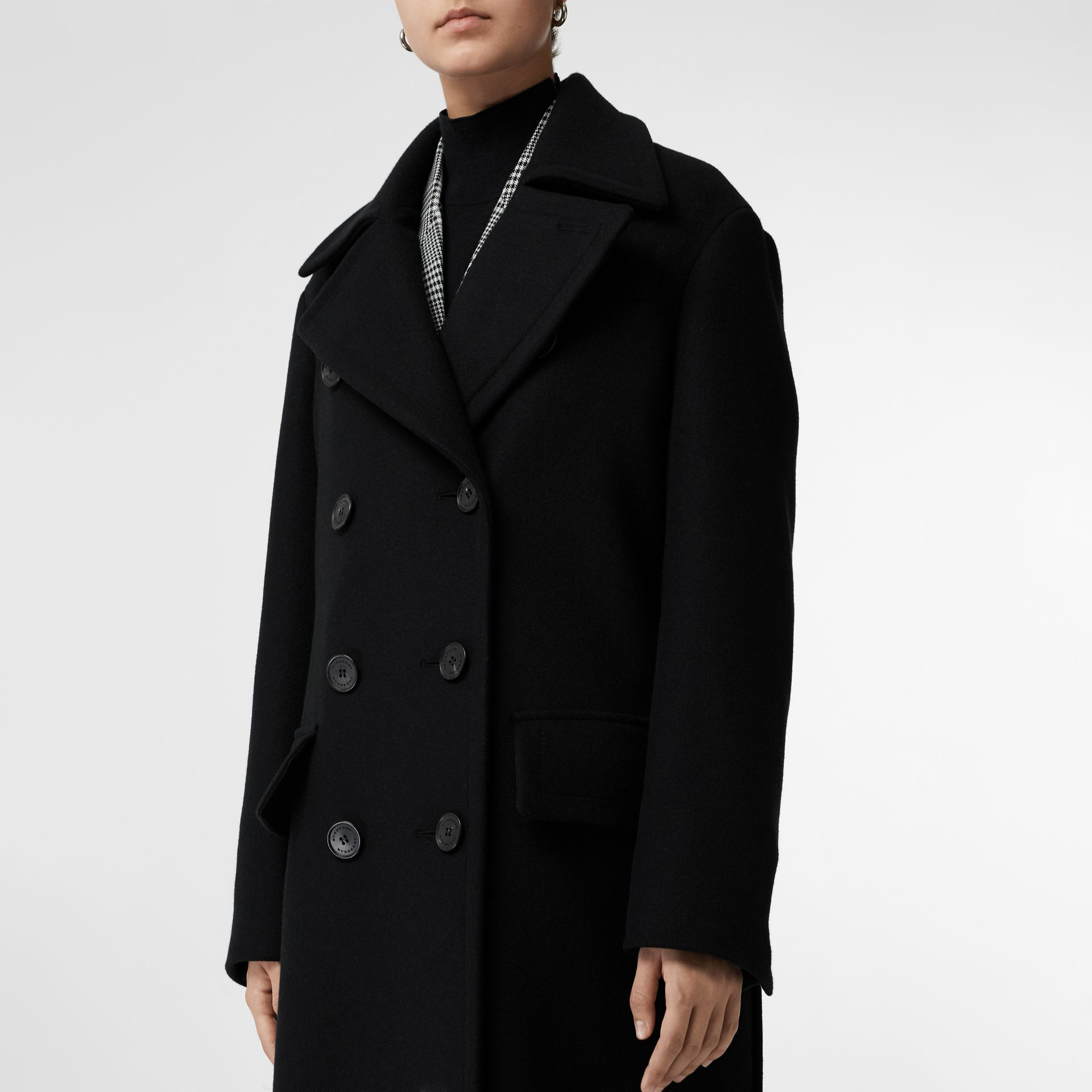Double-faced Cashmere Tailored Coat in Black - Women | Burberry Canada - gallery image 4