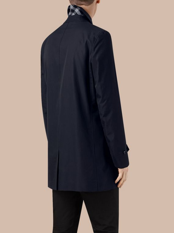 Cotton Gabardine Car Coat Navy - cell image 2