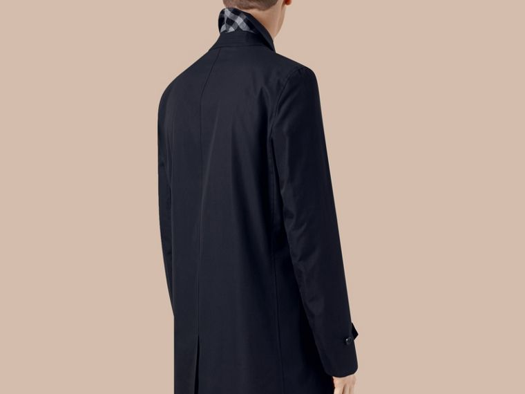 Navy Cotton Gabardine Car Coat Navy - cell image 2