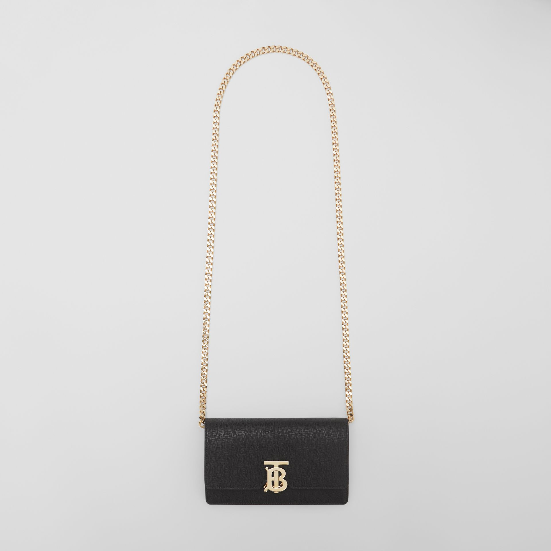 Small Grainy Leather Shoulder Bag in Black - Women | Burberry United Kingdom - gallery image 2