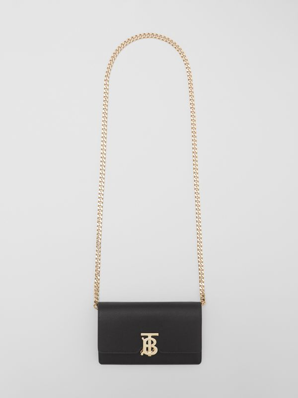 Small Grainy Leather Shoulder Bag in Black - Women | Burberry United Kingdom - cell image 2