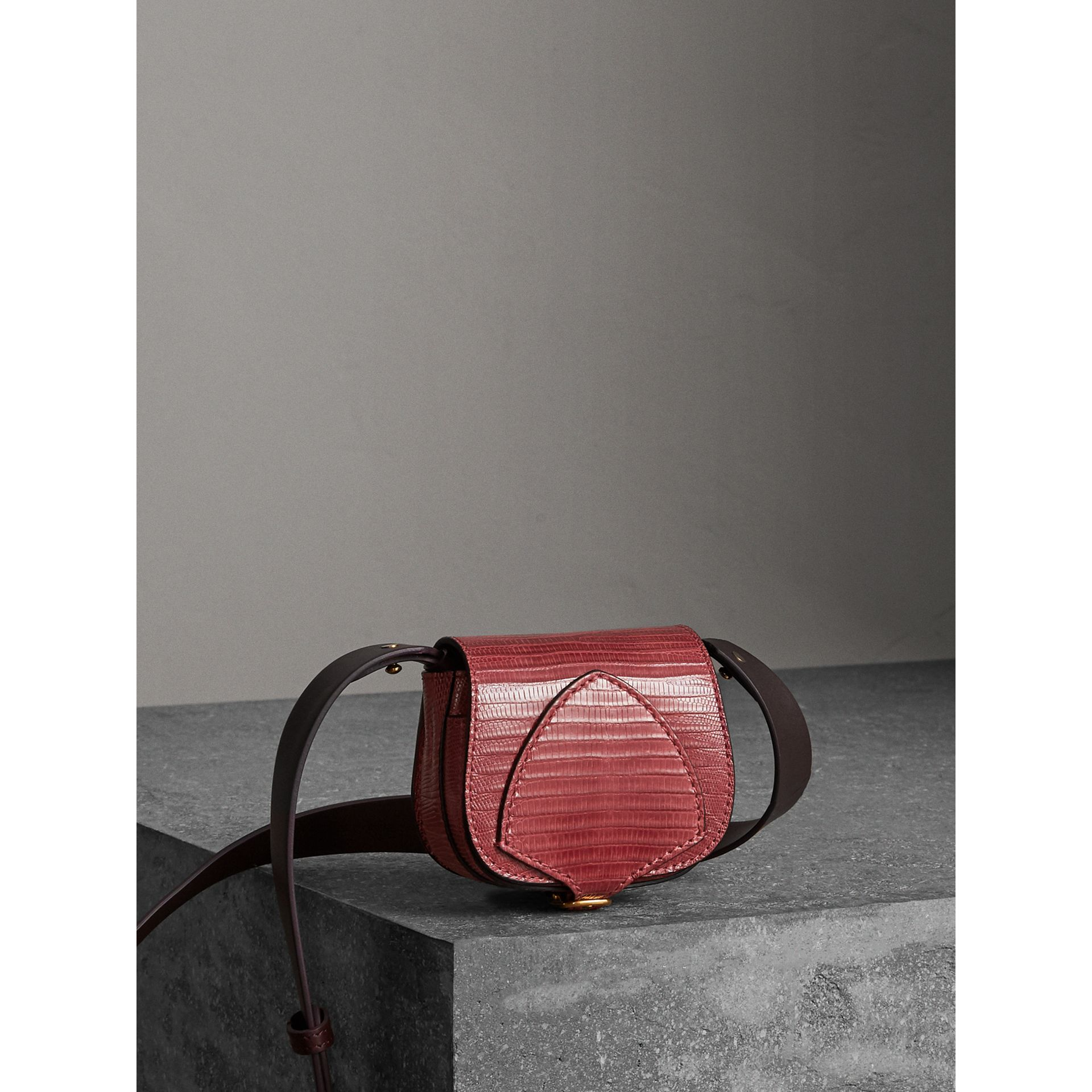 The Pocket Satchel in Lizard in Dark Crimson - Women | Burberry - gallery image 6