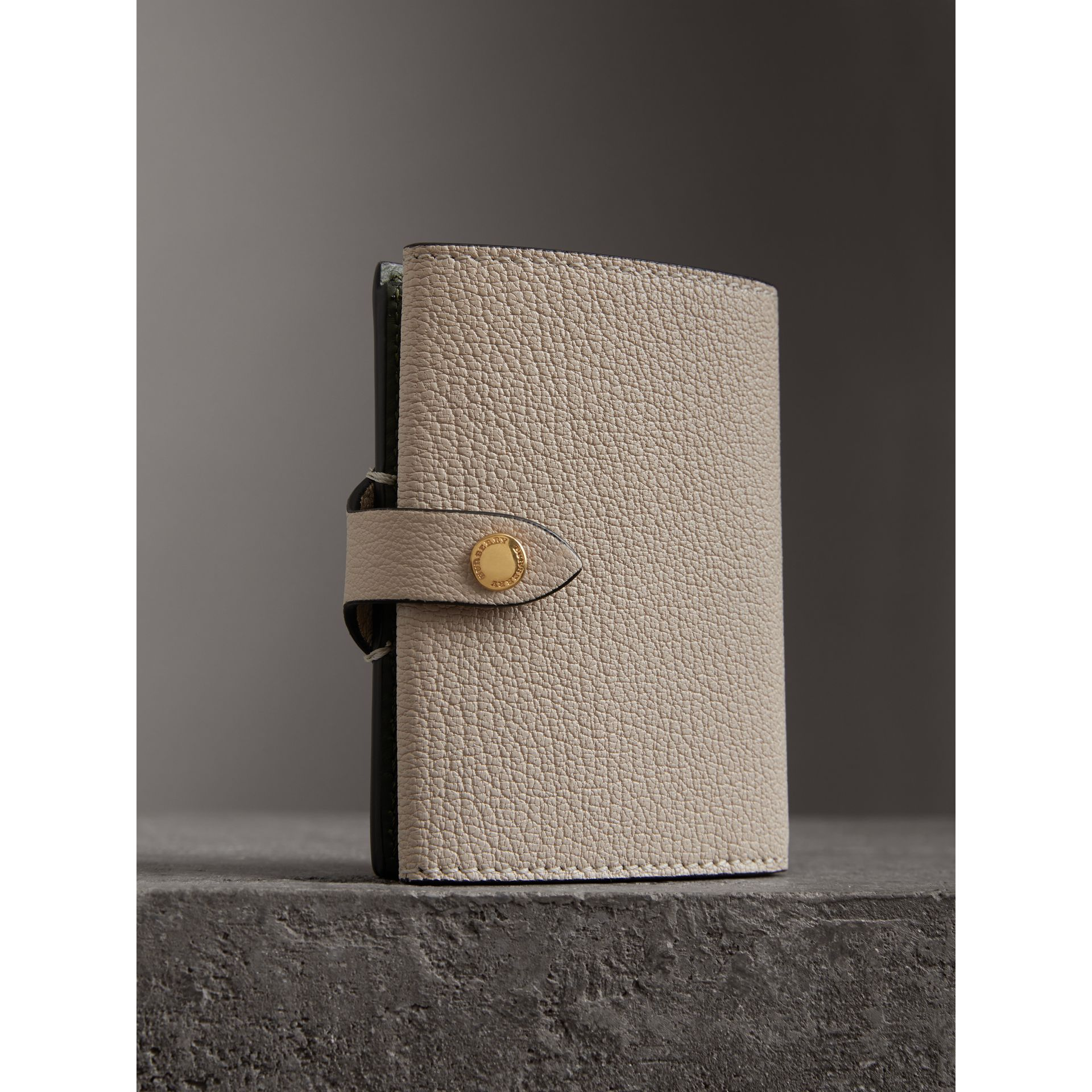 Equestrian Shield Two-tone Leather Folding Wallet in Stone - Women | Burberry United States - gallery image 2