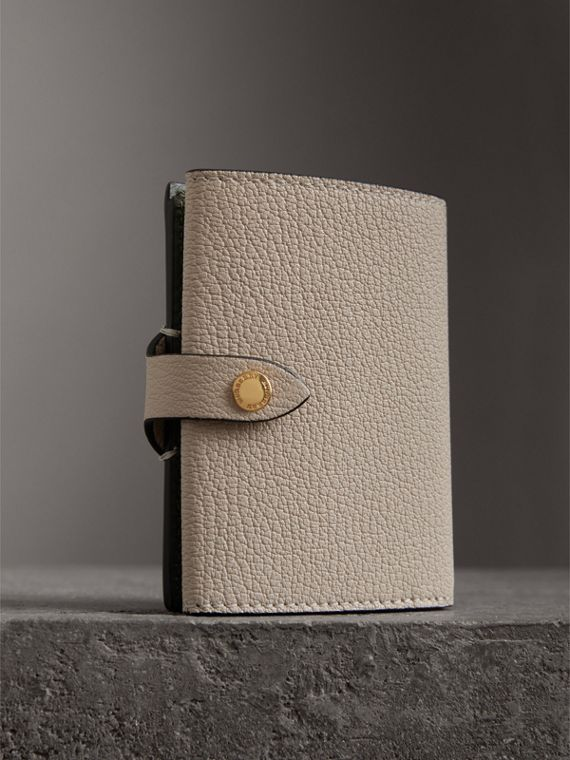 Equestrian Shield Two-tone Leather Folding Wallet in Stone - Women | Burberry United Kingdom - cell image 2