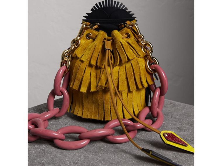 The Owl – Calf Suede and Snakeskin Crossbody Bag - Women | Burberry - cell image 4