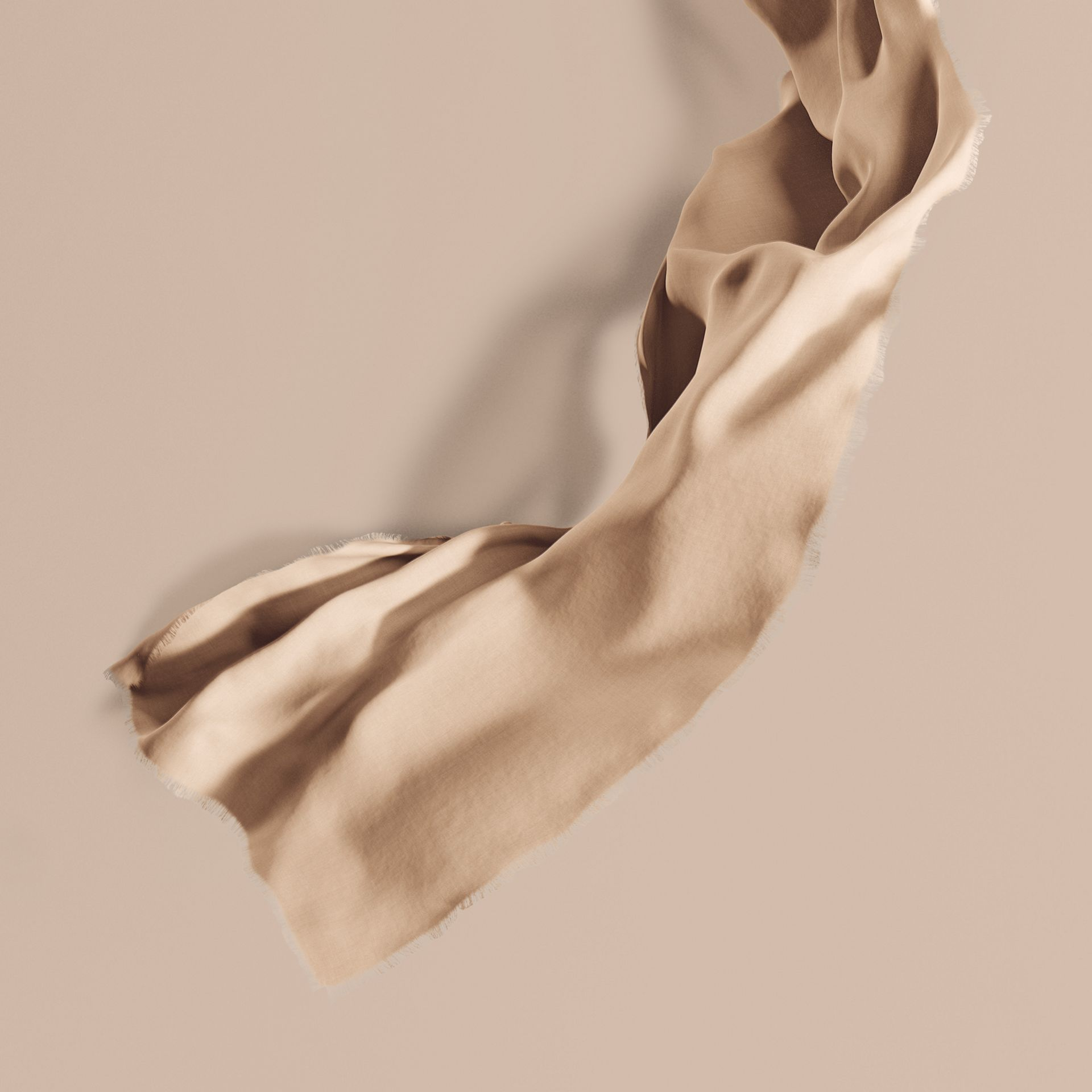 The Lightweight Cashmere Scarf in Stone | Burberry Singapore - gallery image 1