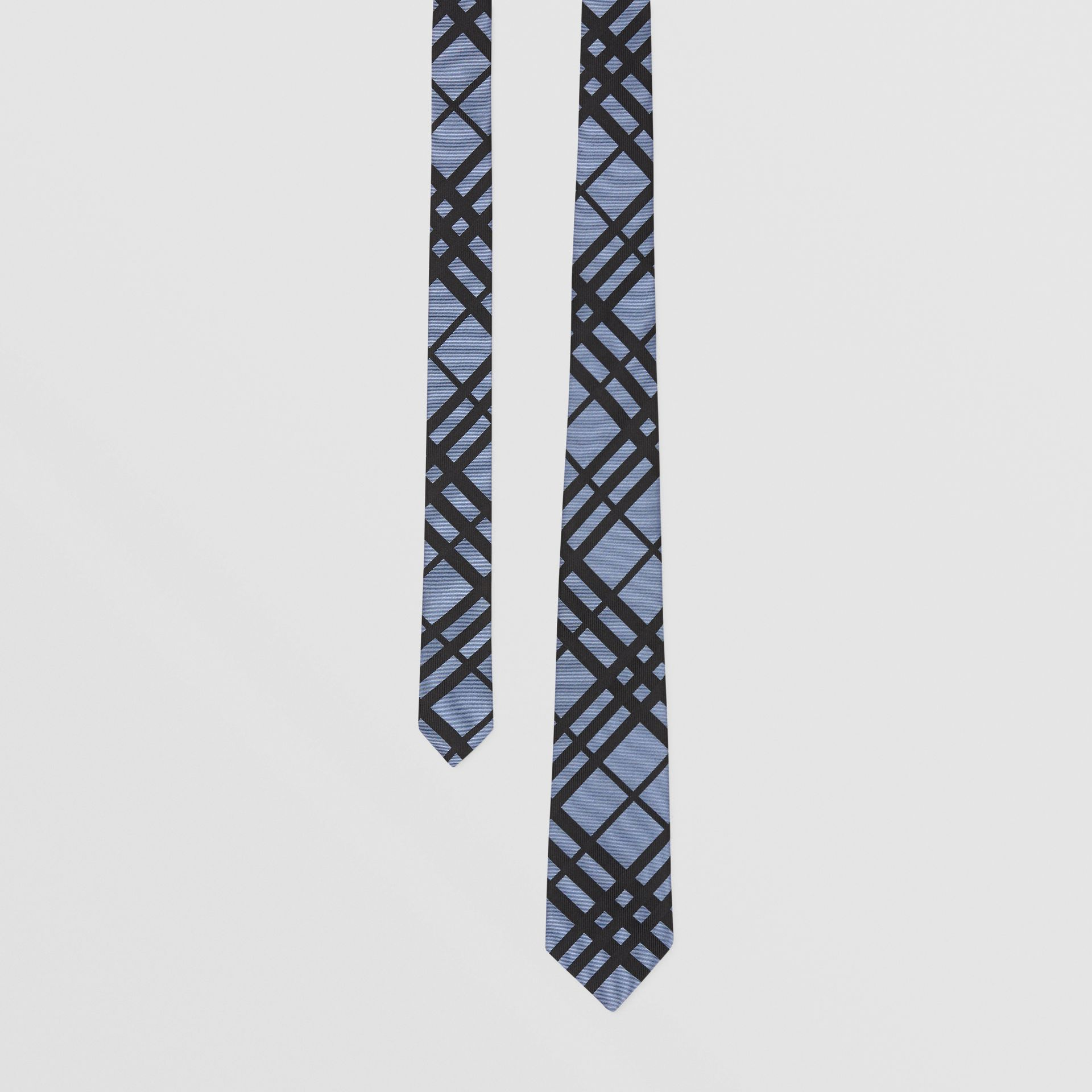 Classic Cut Check Silk Jacquard Tie in Chalk Blue - Men   Burberry - gallery image 0