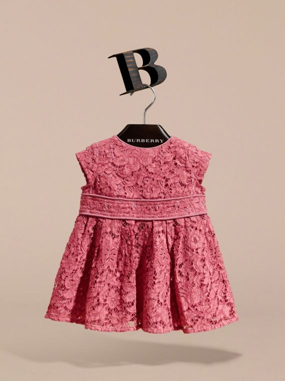 Cap Sleeve Macramé Lace Dress | Burberry - cell image 2