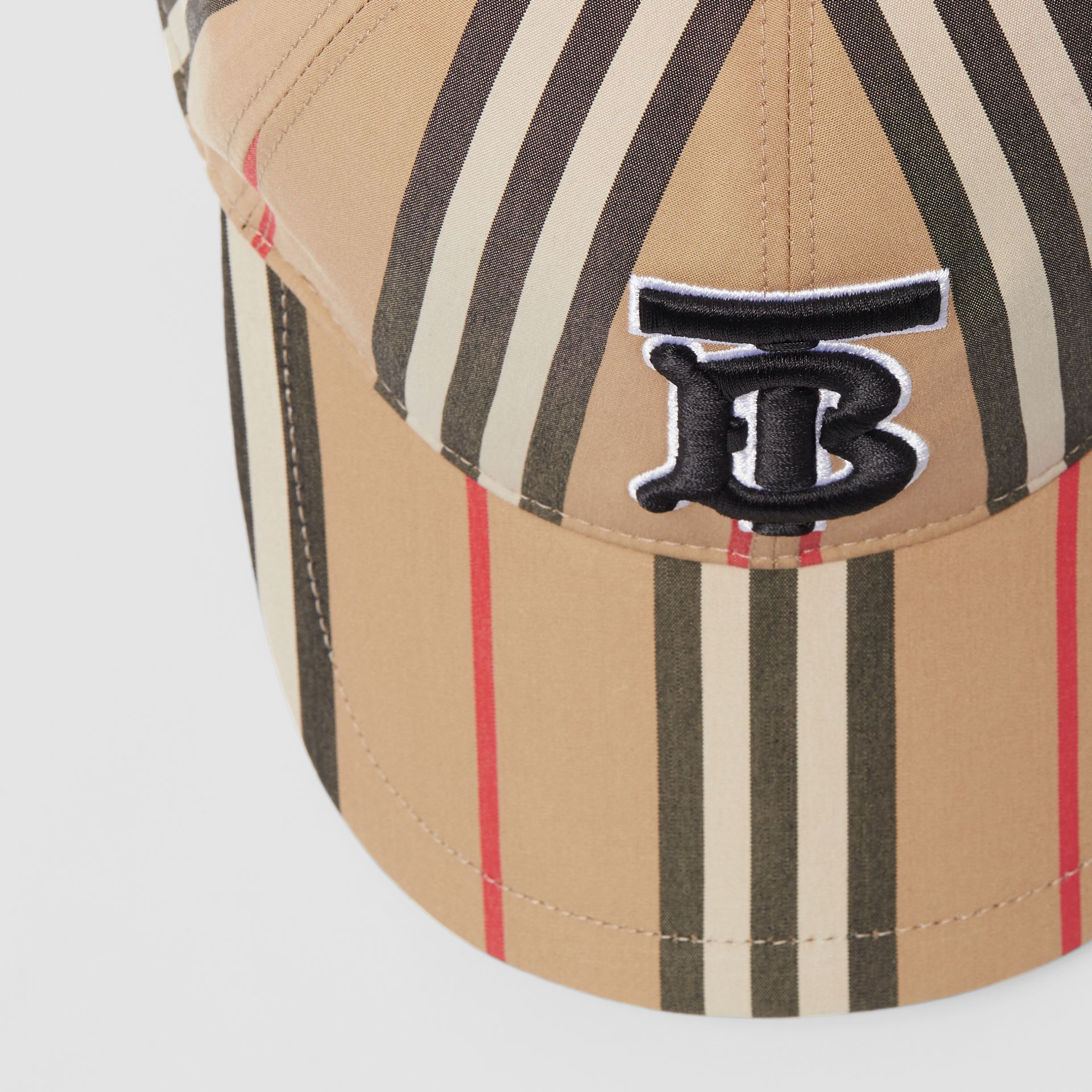 Icon Stripe Baseball Cap in Archive Beige | Burberry Canada - gallery image 1