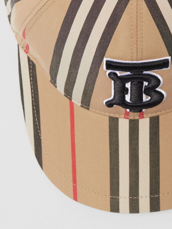 Icon Stripe Baseball Cap in Archive Beige | Burberry - cell image 1