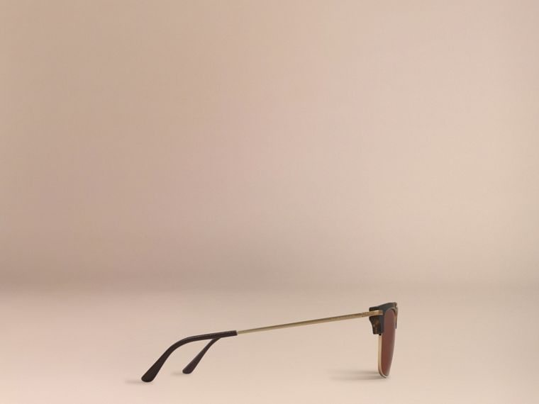 Brown Square Frame Sunglasses Brown - cell image 4