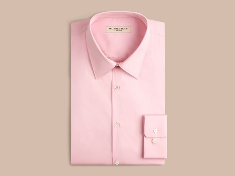 Slim Fit Stretch Cotton Shirt City Pink - cell image 2
