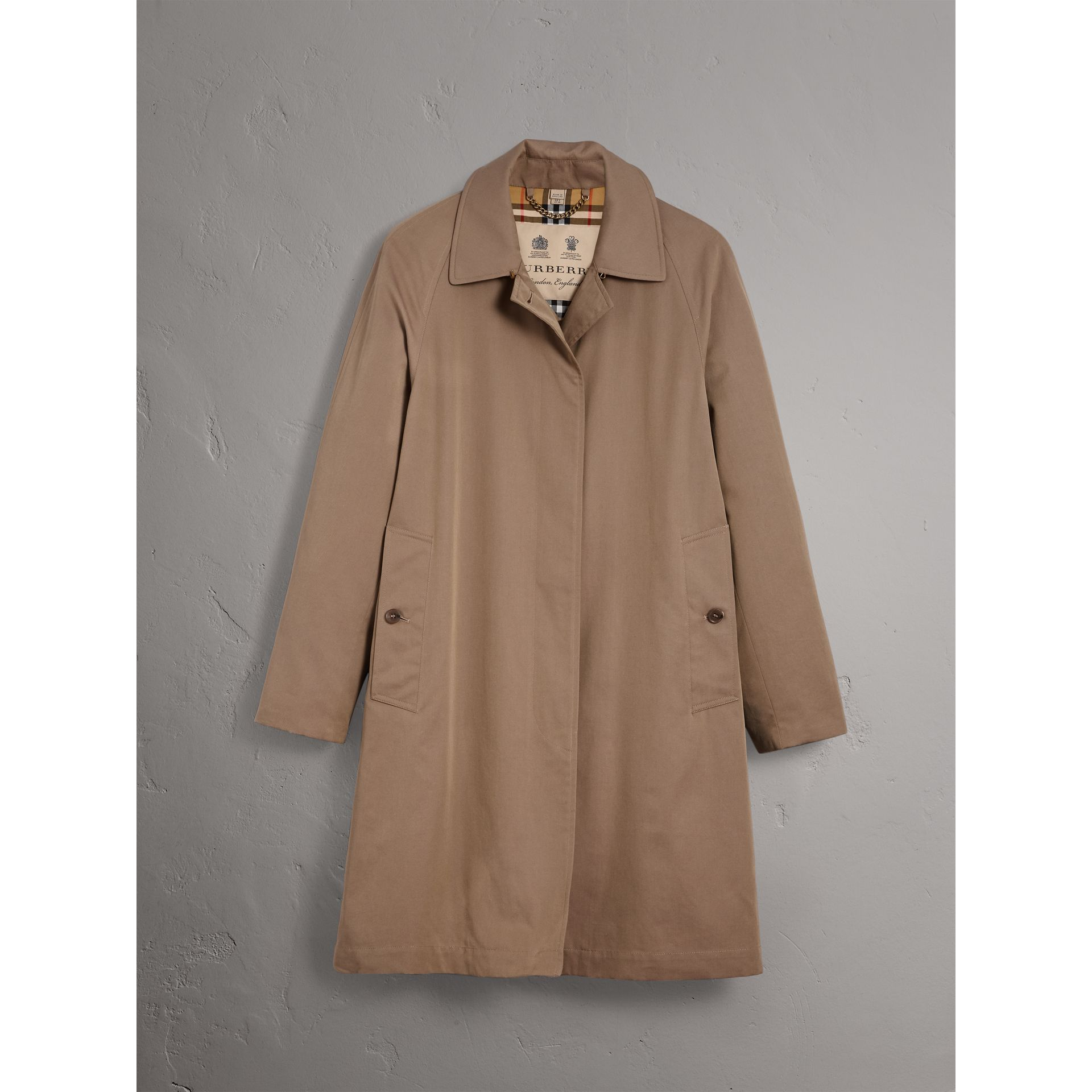 Car Coat The Camden (Brun Taupe) - Femme | Burberry - photo de la galerie 3