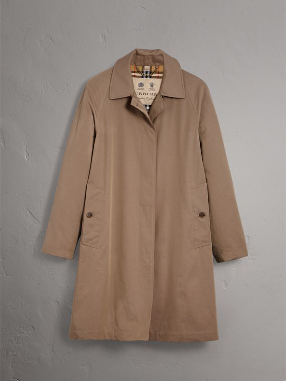 The Camden Car Coat in Taupe Brown - Women | Burberry - cell image 3