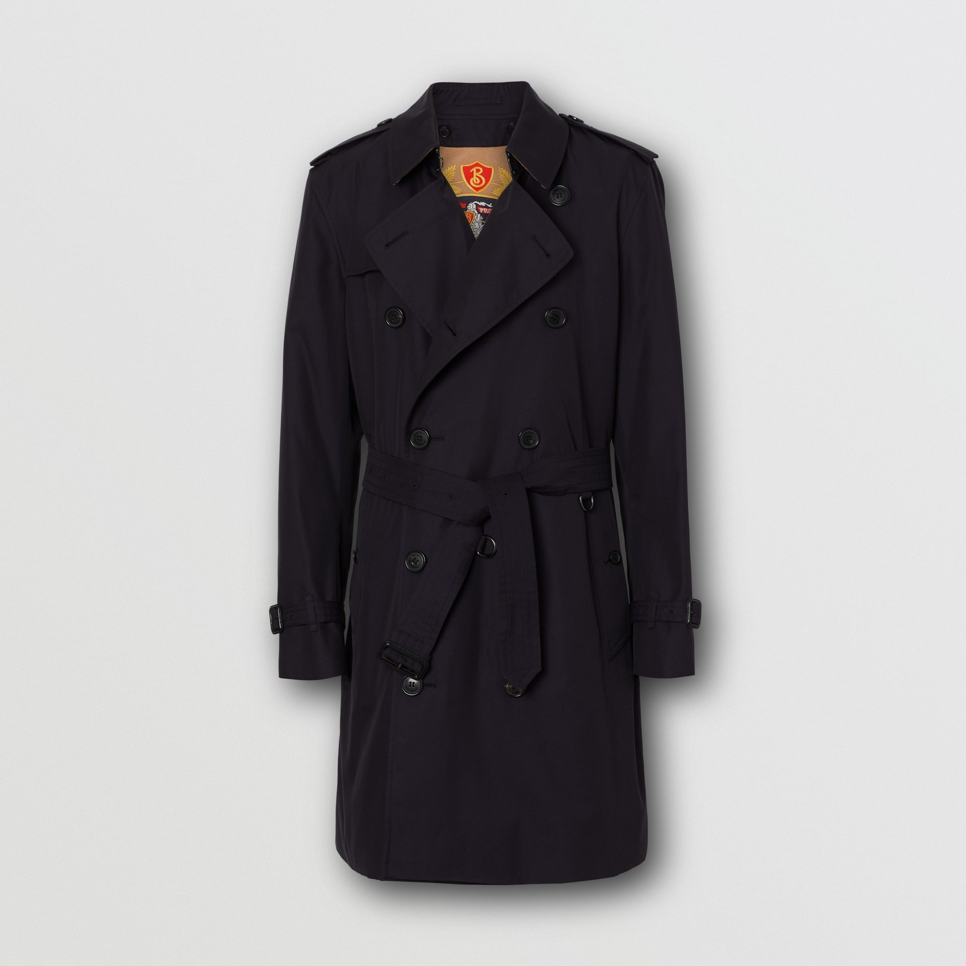 Cotton Gabardine Trench Coat with Warmer in Midnight Navy - Men | Burberry - gallery image 6