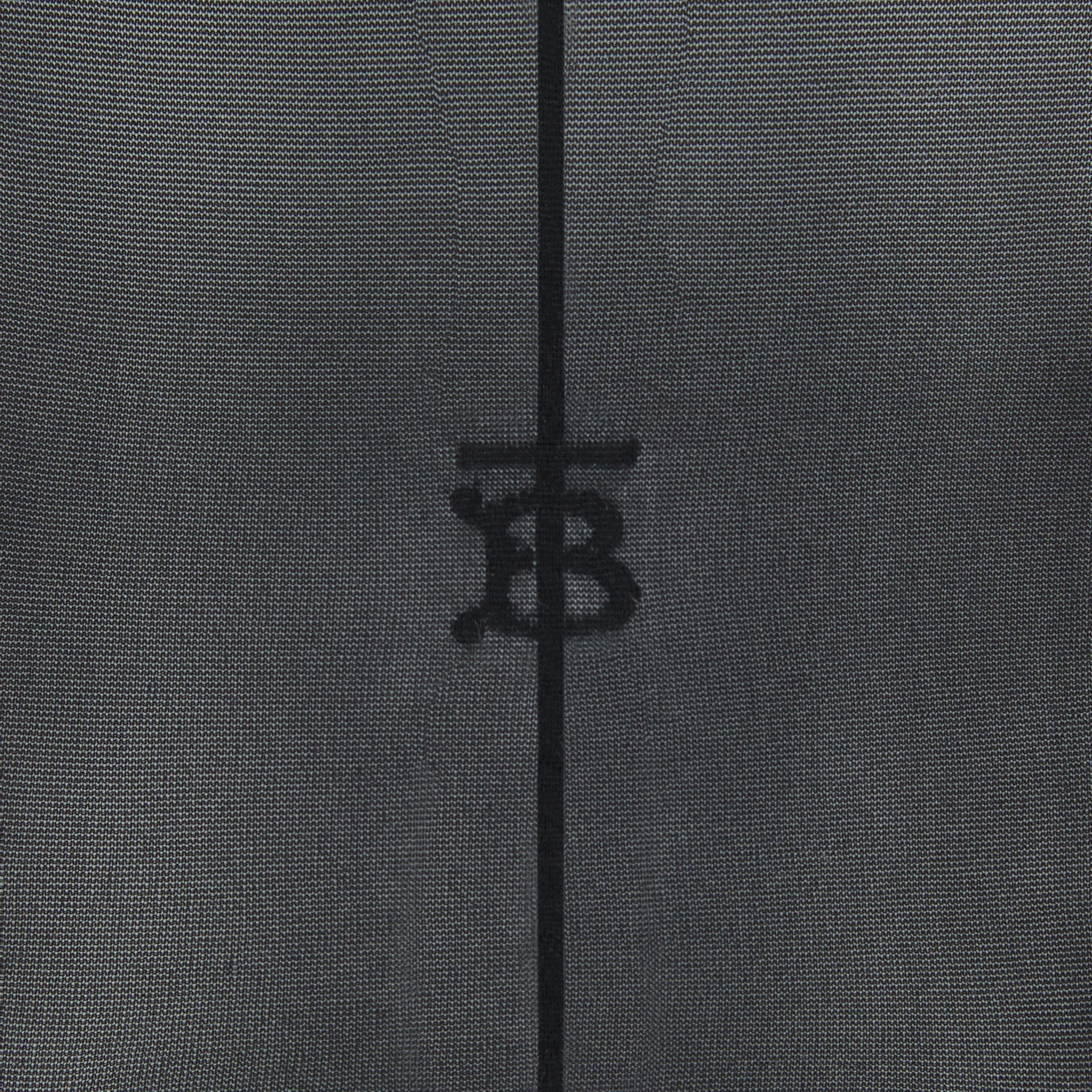 Monogram Motif Seamed Tights in Black - Women | Burberry Australia - gallery image 2