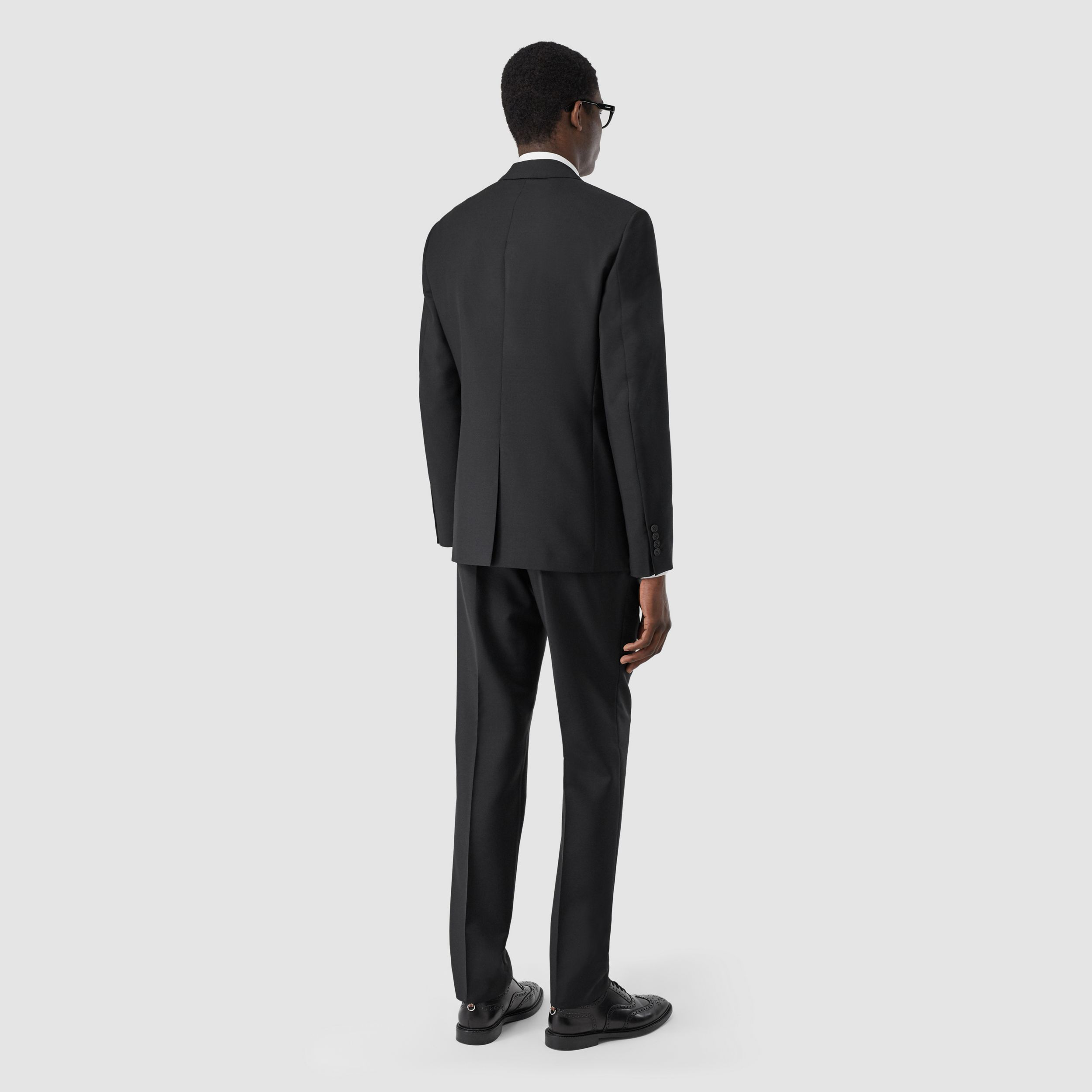 Slim Fit Wool Mohair Suit in Black - Men | Burberry - 3