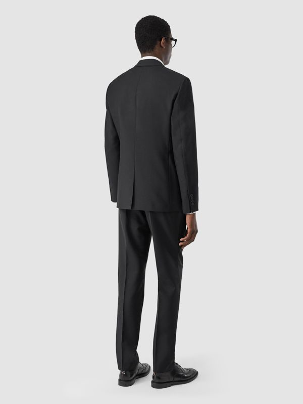 Slim Fit Wool Mohair Suit in Black - Men | Burberry - cell image 2
