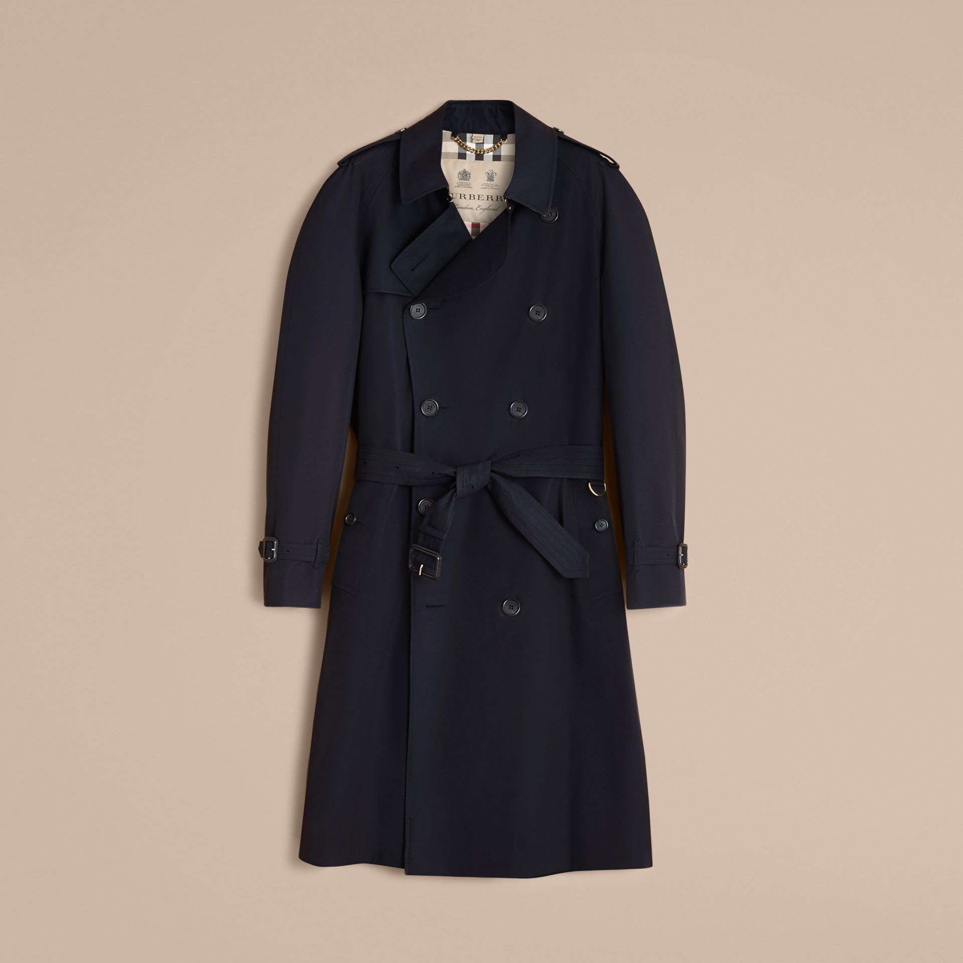 The Westminster – Long Heritage Trench Coat in Navy - gallery image 4