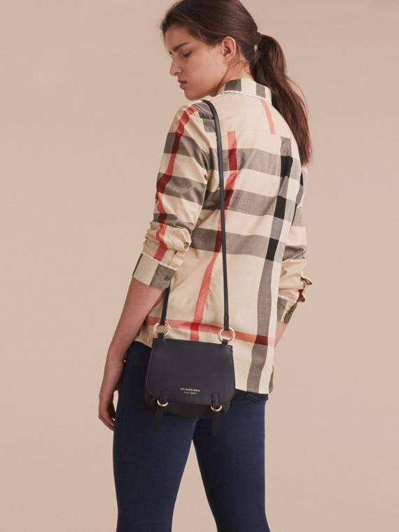 Lace Trim Check Cotton Shirt in New Classic - Women | Burberry - cell image 2