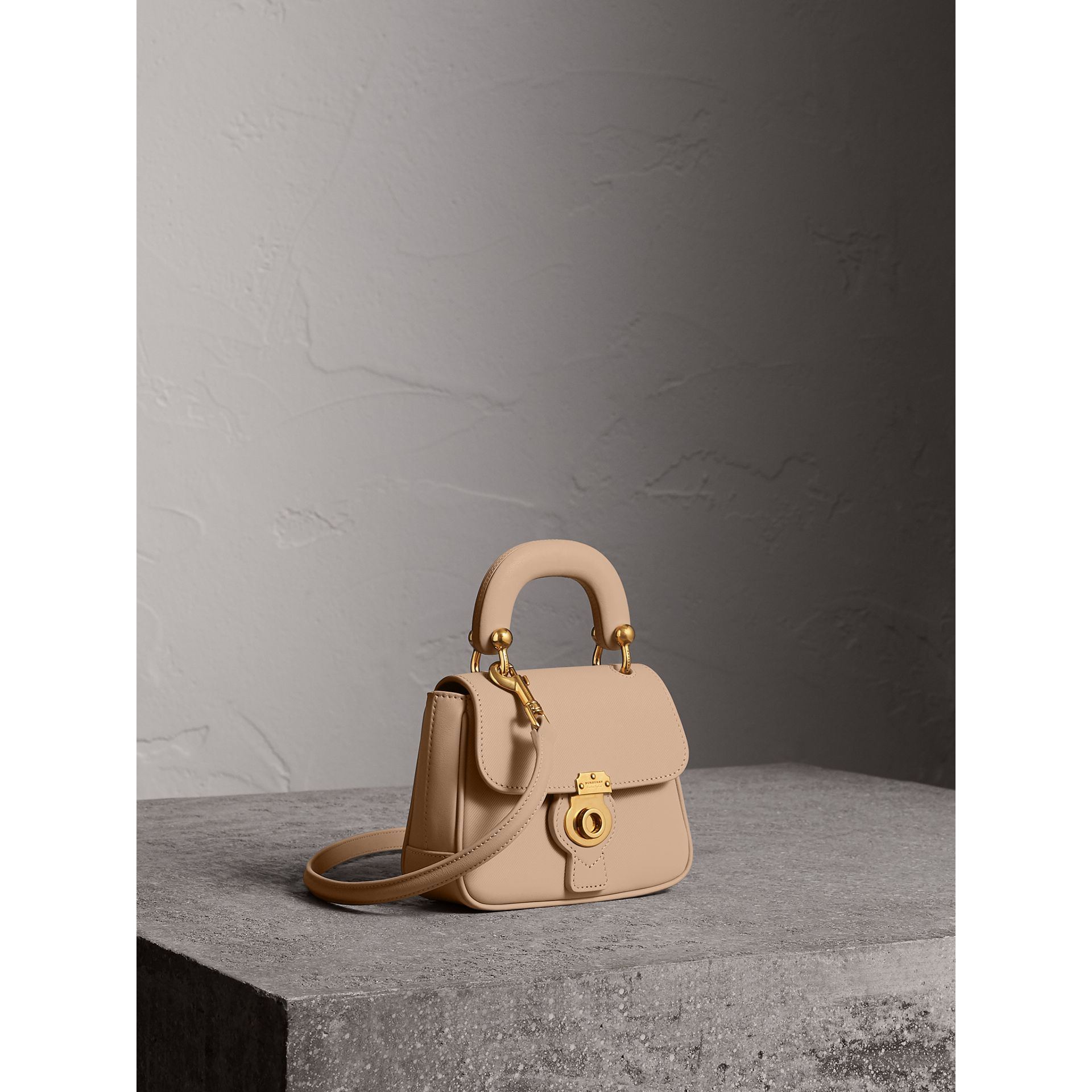 The Mini DK88 Top Handle Bag in Honey - Women | Burberry - gallery image 8