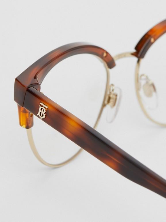 Óculos de grau com armação gatinho (Âmbar  Efeito Casco  Tartaruga) - Mulheres | Burberry - cell image 1
