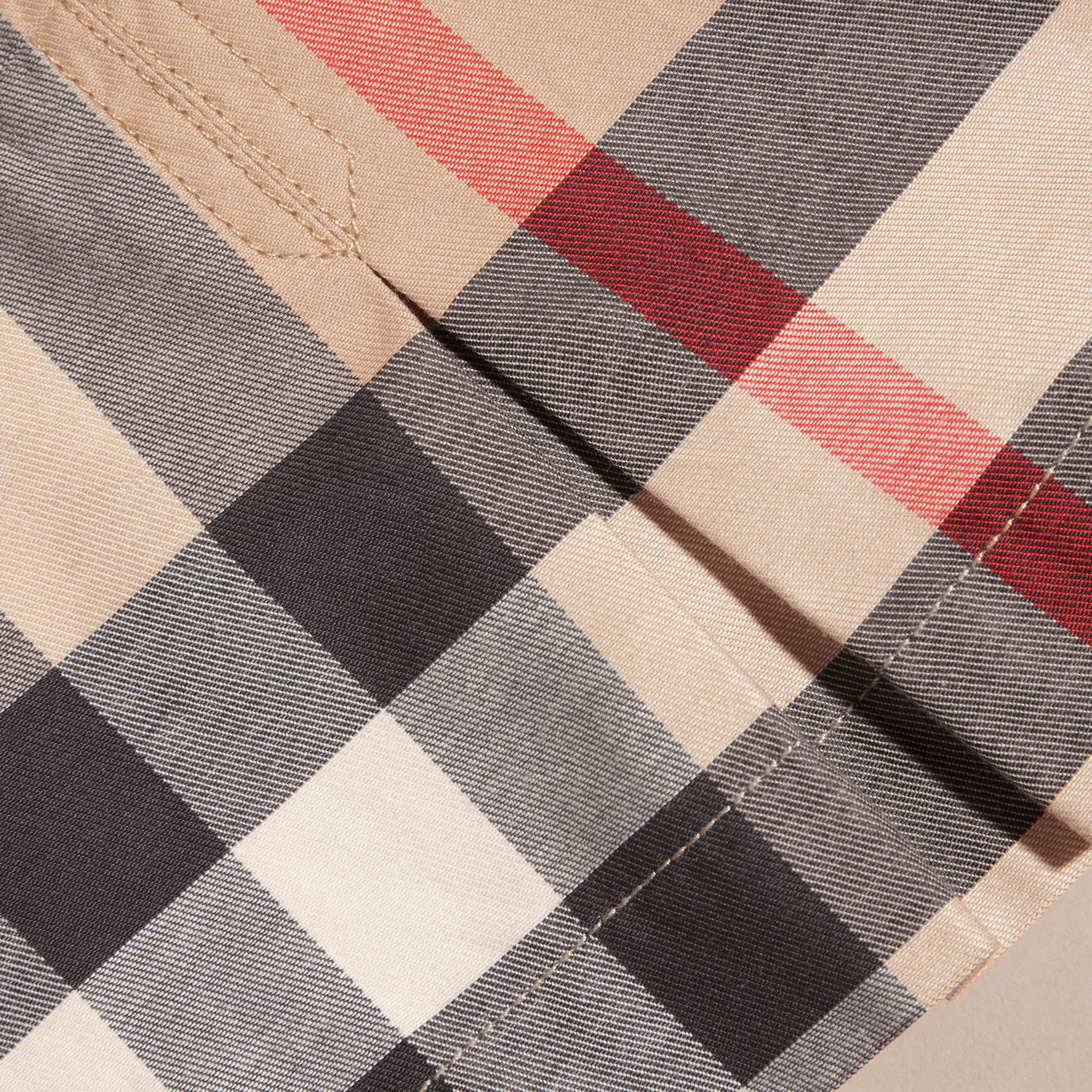Washed Check Cotton Dress in New Classic | Burberry - gallery image 2