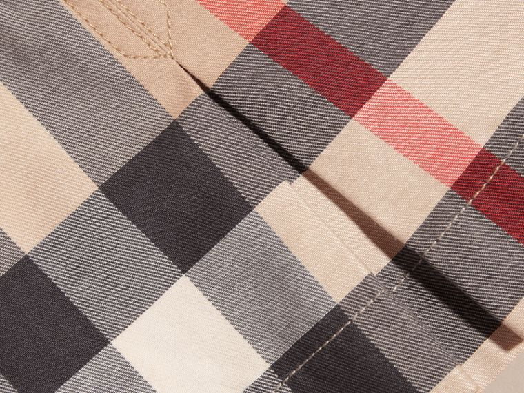Washed Check Cotton Dress in New Classic | Burberry - cell image 1