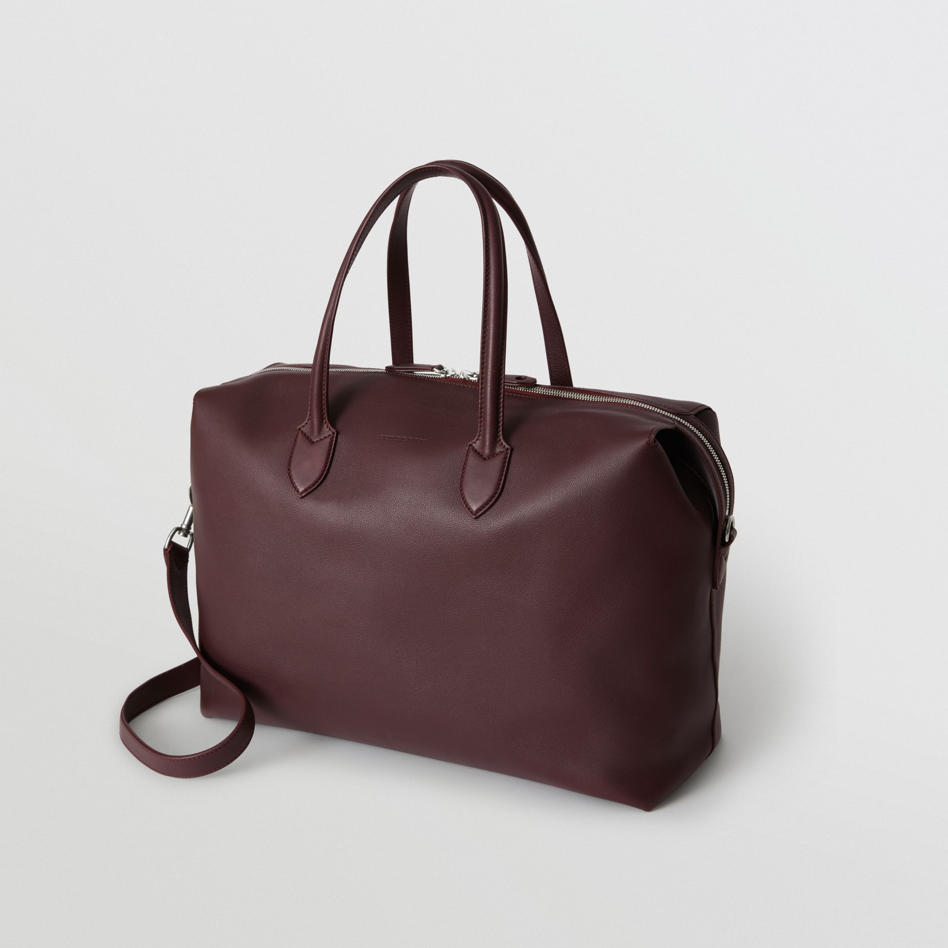 Soft Leather Holdall in Oxblood - Men | Burberry - gallery image 2