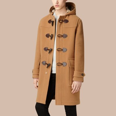 Wool-Blend Duffle Coat Camel | Burberry