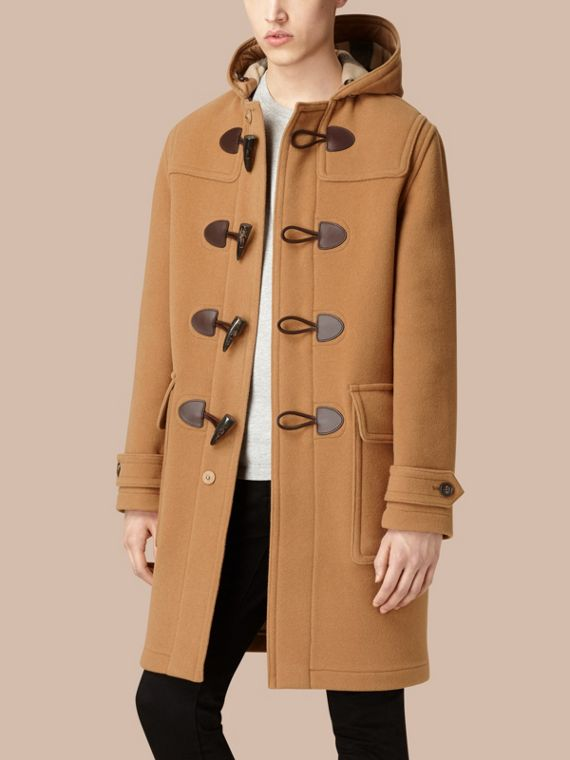 Camel Wool-Blend Duffle Coat Camel - cell image 3