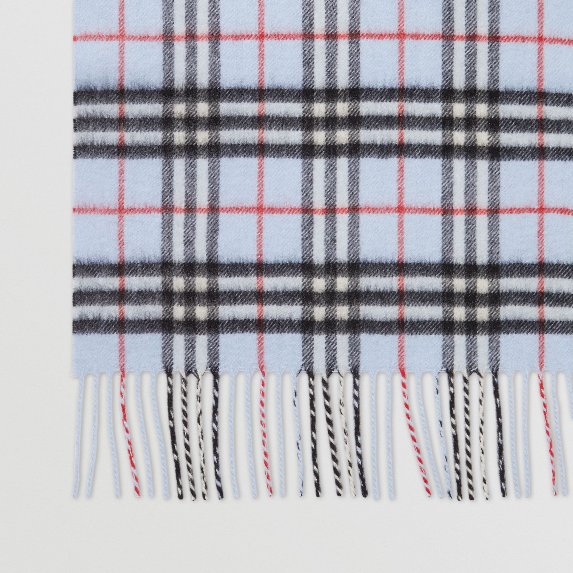 The Classic Vintage Check Cashmere Scarf in Pale Blue | Burberry Hong Kong S.A.R - gallery image 8