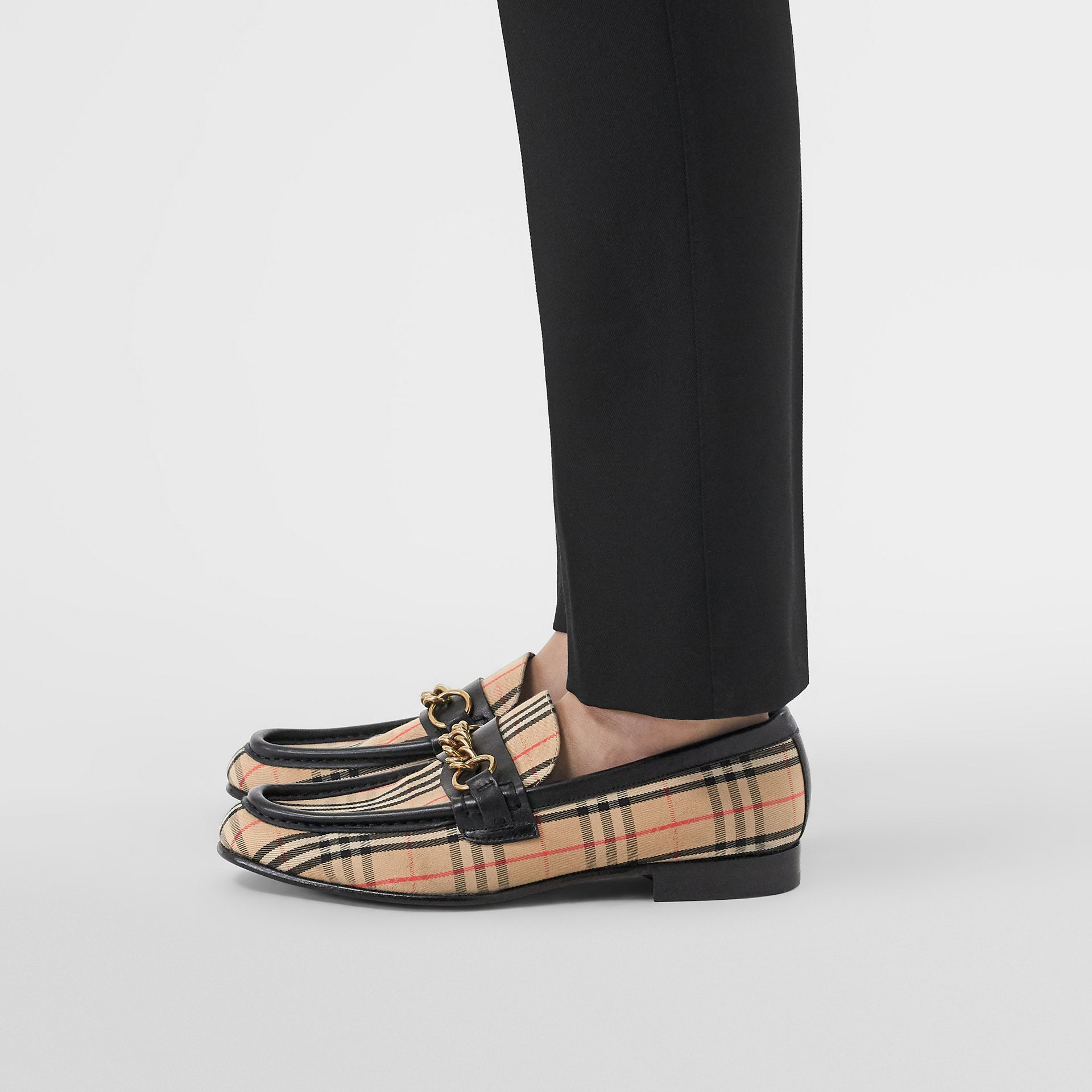 The 1983 Check Link Loafer in Black - Women | Burberry - gallery image 2