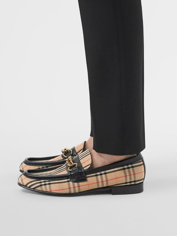 The 1983 Check Link Loafer in Black - Women | Burberry - cell image 2