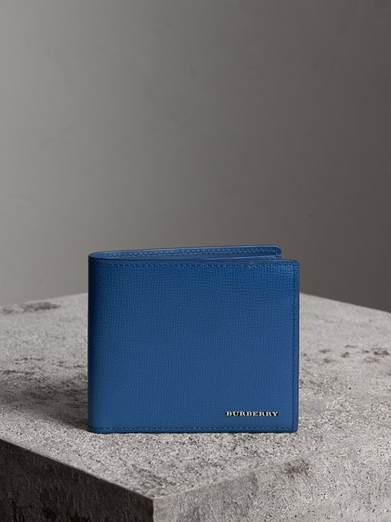 London Leather International Bifold Wallet in Deep Blue