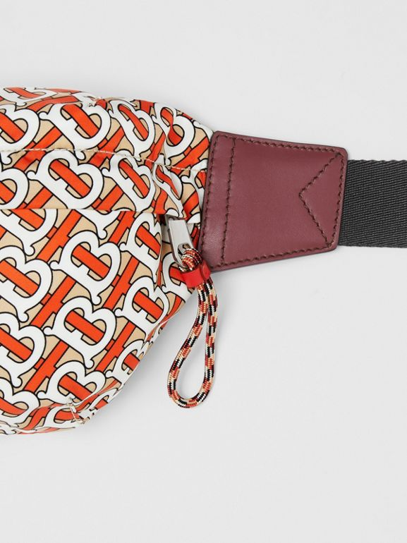 Medium Monogram Print Bum Bag in Vermilion | Burberry - cell image 1