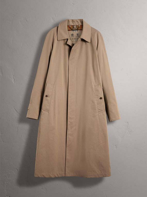 The Brighton Car Coat in Taupe Brown - Men | Burberry - cell image 3