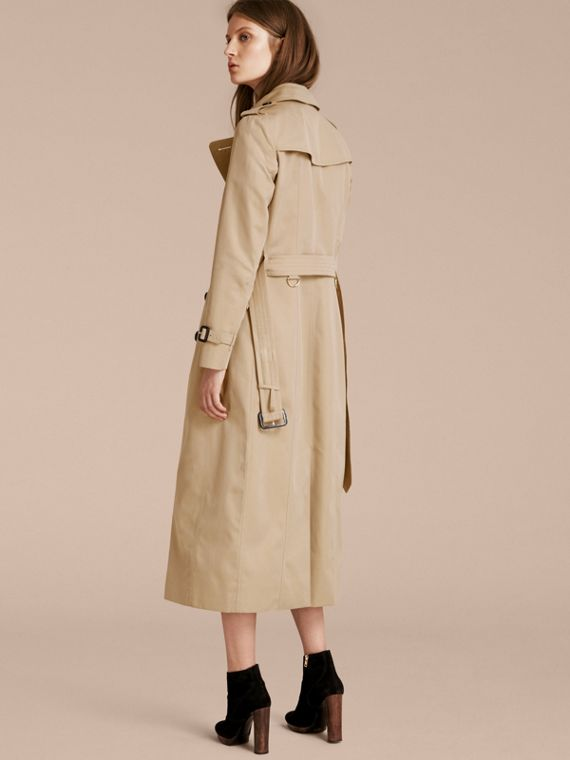 Long Cotton Gabardine Trench Coat - cell image 2