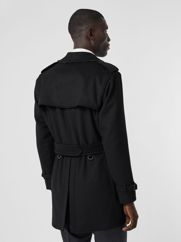 Wool Cashmere Trench Coat in Black - Men | Burberry - cell image 2