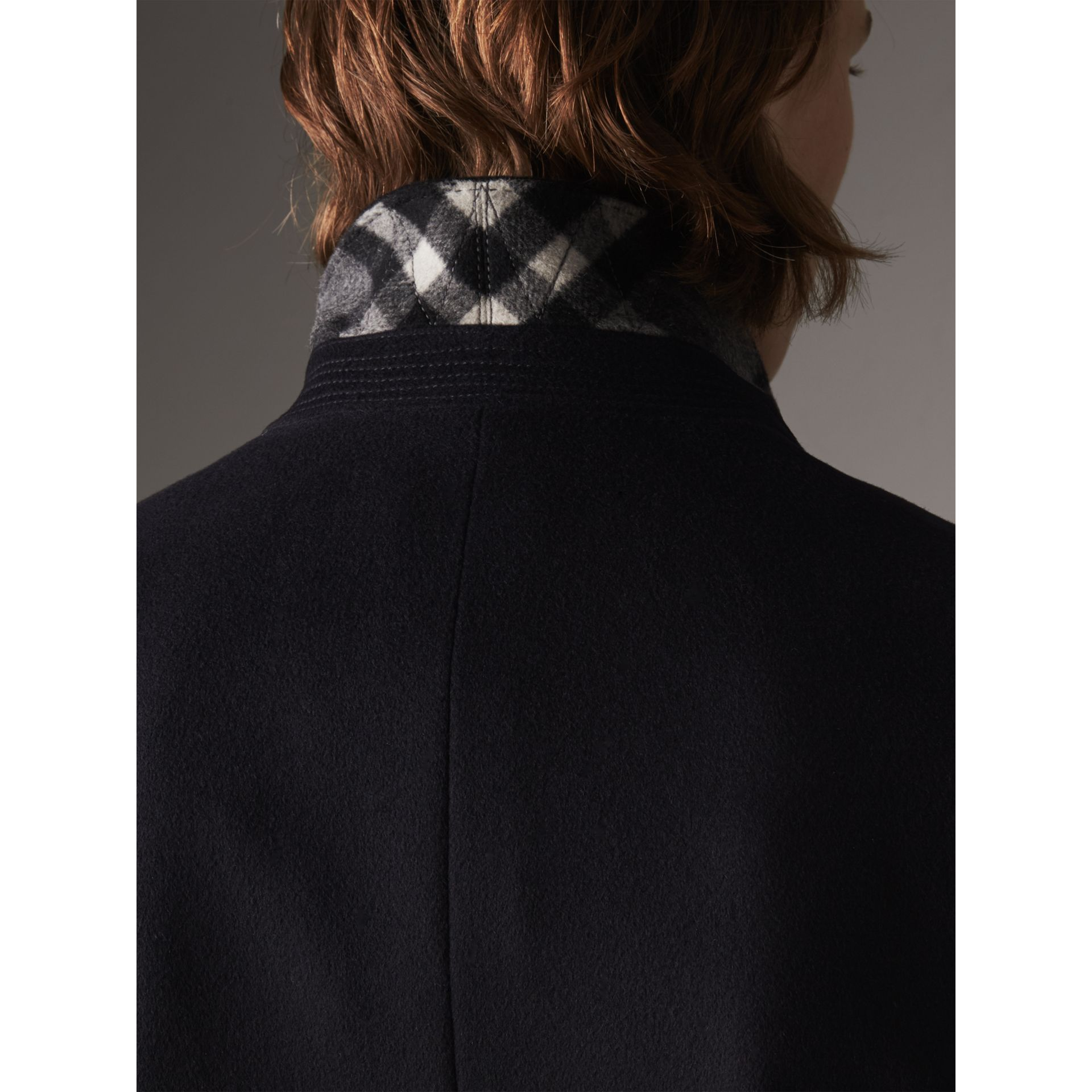 Wool Cashmere Tailored Coat in Navy - Men | Burberry - gallery image 2