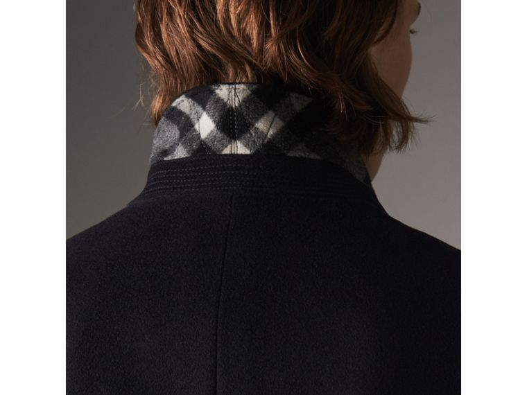 Wool Cashmere Tailored Coat in Navy - Men | Burberry United States - cell image 1